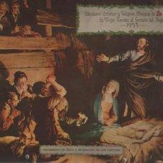 Coleccionismo Calendarios: CALENDARIO MORAL PARET - ARTISTICO RELIGIOSOS OBSEQUIO LA FAMILIA REVISTA DEL HOGAR 1953. Lote 55055874