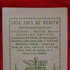 Coleccionismo Calendarios: CALENDARIO NO FOURNIER JOSE LUIS DE BENITO 1957. Lote 55107327