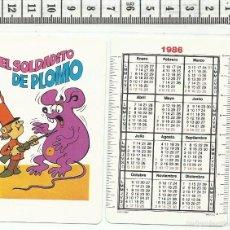 Coleccionismo Calendarios: CALENDARIO DE BOLSILLO COMAS NEGSA 1986 CUENTO EL SOLDADITO DE PLOMO NAIPE BARAJA. Lote 55115133