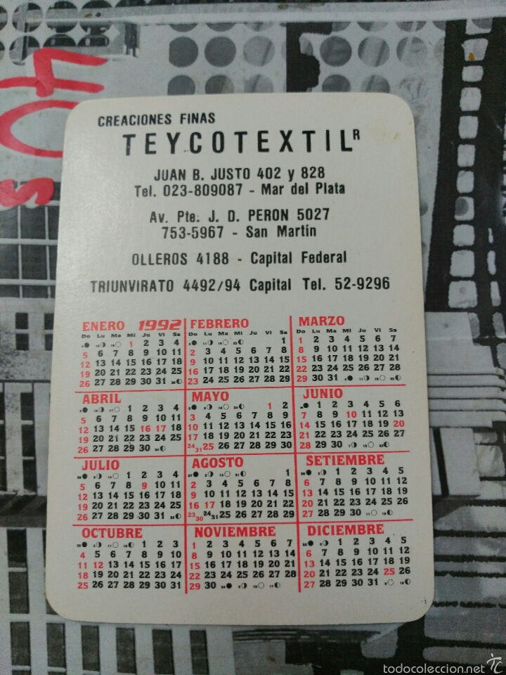 Calendario 1976 Argentina.Calendario De Bolsillo Dibujo Mujer Sombrero 19 Sold