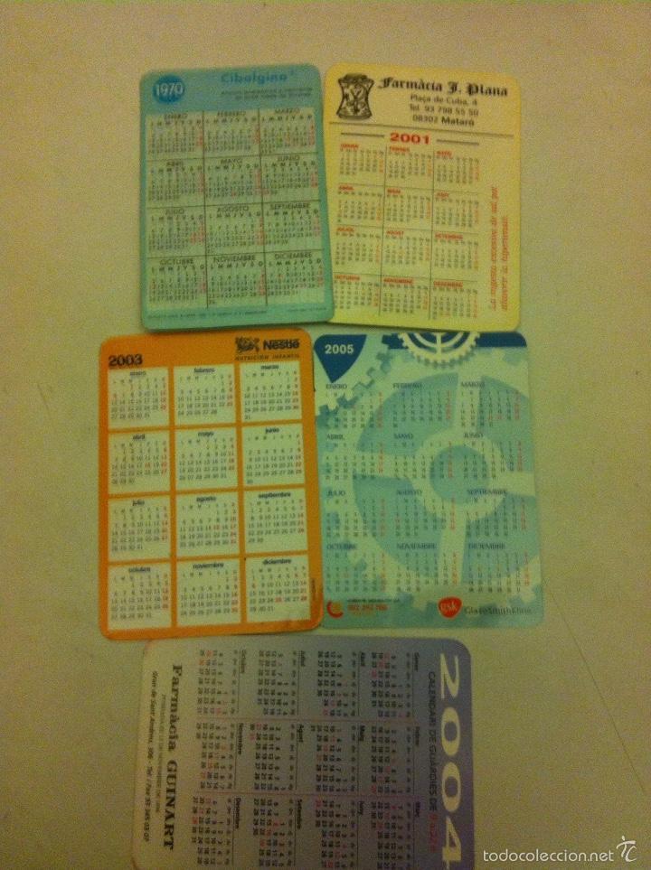 Coleccionismo Calendarios: calendarios -farmacia - lote de 5 - Foto 2 - 55335012