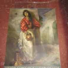 Coleccionismo Calendarios: UNION ESPAÑOLA DE EXPLOSIVA 1962 - 75 CM X 51CM. Lote 55666890