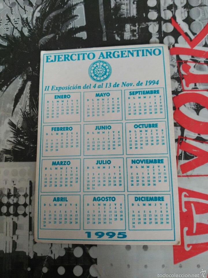 Calendario 2017 Argentina.Calendario De Bolsillo Publicitario Ejercito Ar Sold