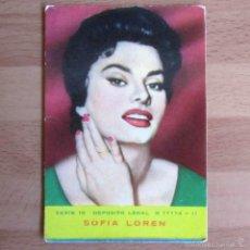 Coleccionismo Calendarios: CALENDARIO 1962 SOFÍA LOREN. Lote 56107129