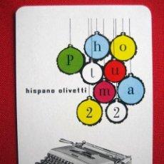 Coleccionismo Calendarios: CALENDARIO DE BOLSILLO HERACLIO FOURNIER HISPANO OLIVETTI - AÑO 1958. Lote 56238830
