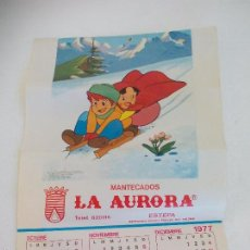 Coleccionismo Calendarios: ANTIGUO ALMANAQUE DE 1977. HEIDI. MANTECADOS LA AURORA, ESTEPA, SEVILLA. CALENDARIO. Lote 56608883