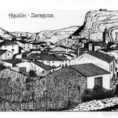Coleccionismo Calendarios: CALENDARIO 2002 DIBUJO A PLUMILLA : ALFONSO CIFUENTES BLÁZQUEZ ZARAGOZA. Lote 56631105