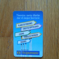 Coleccionismo Calendarios: CALENDARIO FOURNIER 1992 ,BANCO GUIPUZCOANO. Lote 56666253