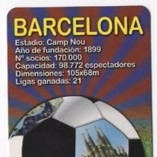 Collezionismo Calendari: CALENDARIO TEMA FÚTBOL - BARCELONA 2012 . Lote 56721016