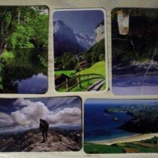Coleccionismo Calendarios: LOTE CINCO CALENDARIOS DE PAISAJES. Lote 56860309