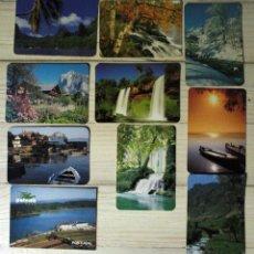 Coleccionismo Calendarios: LOTE DIEZ CALENDARIOS DE PAISAJES. Lote 56860664