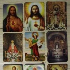 Coleccionismo Calendarios: LOTE NUEVE CALENDARIOS RELIGIOSOS. Lote 56860766