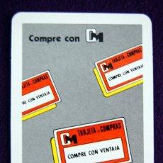 Coleccionismo Calendarios: CALENDARIO FOURNIER. TARJETA DE COMPRAS CM. 1988. Lote 56971460