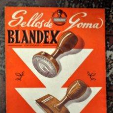 Coleccionismo Calendarios: CALENDARIO PUBLICITARIO DE BLANDEX (SELLOS DE GOMA). AÑO 1951. Lote 57224600