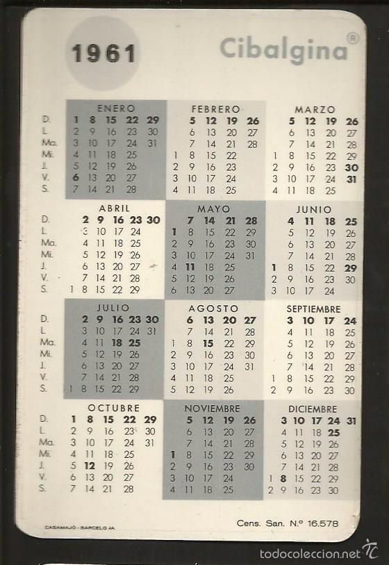 Calendario Del 1961.Cibalgina Calendario Ano 1962 1961 Sold Through