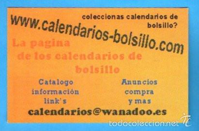 Calendario 2001.Calendario 2001 Coleccionismo Calendarios Bolsillo Com