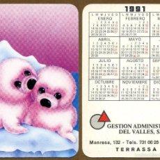 Coleccionismo Calendarios: CALENDARIOS BOLSILLO 1991. Lote 57352218