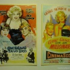 Coleccionismo Calendarios: LOTE CALENDARIOS CINE PELICULAS MARILYN MONROE -2006. Lote 57406292