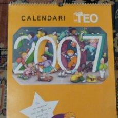 Coleccionismo Calendarios: CALENDARI *TEO* - AÑO 2007 - TIMUN MAS - 45,5X33 CM. Lote 57533751