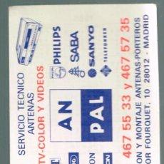 Coleccionismo Calendarios: CALENDARIO SERVICIO TECNICO ANTENAS AN PAL 1988. Lote 57591305