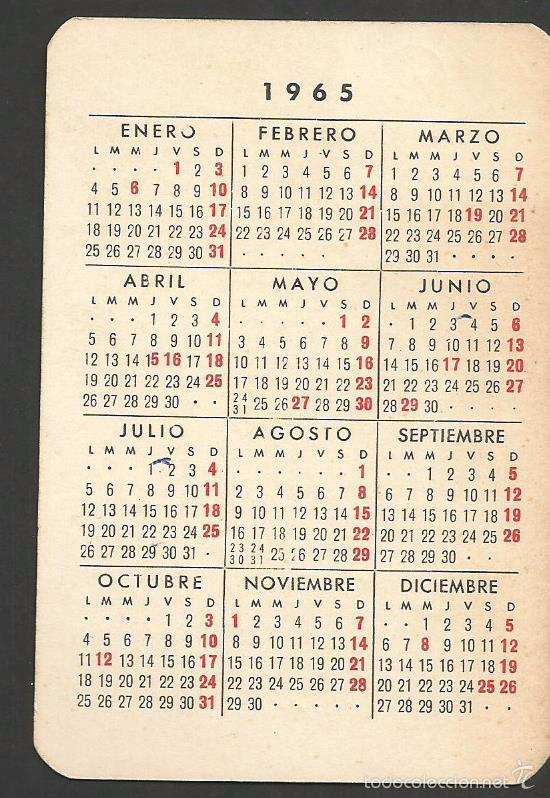Calendario Del Ano 1965.Pasamaneria R Ungo Calendario Ano 1965 Sold Through