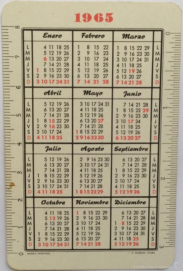 Calendario Del Ano 1965.Calendario Fournier Ano 1965 Juego Familias His Sold At