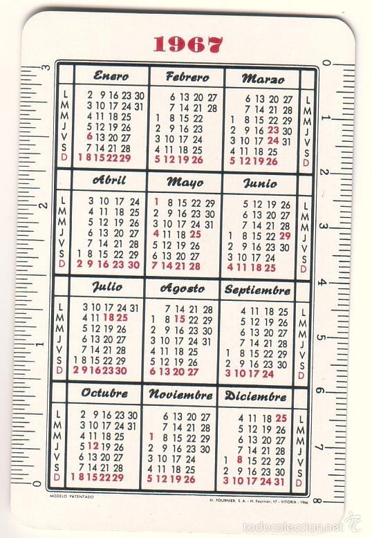 Coleccionismo Calendarios: Calendario de bolsillo Fagor. 1967. - Foto 2 - 58110485
