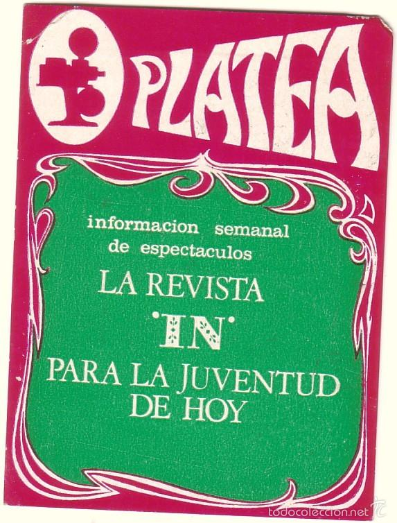 CALENDARIO DE BOLSILLO REVISTA PLATEA 1969. (Coleccionismo - Calendarios)
