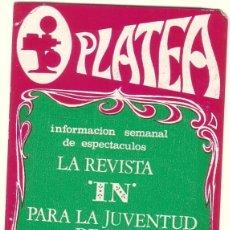 Coleccionismo Calendarios: CALENDARIO DE BOLSILLO REVISTA PLATEA 1969.. Lote 58137015