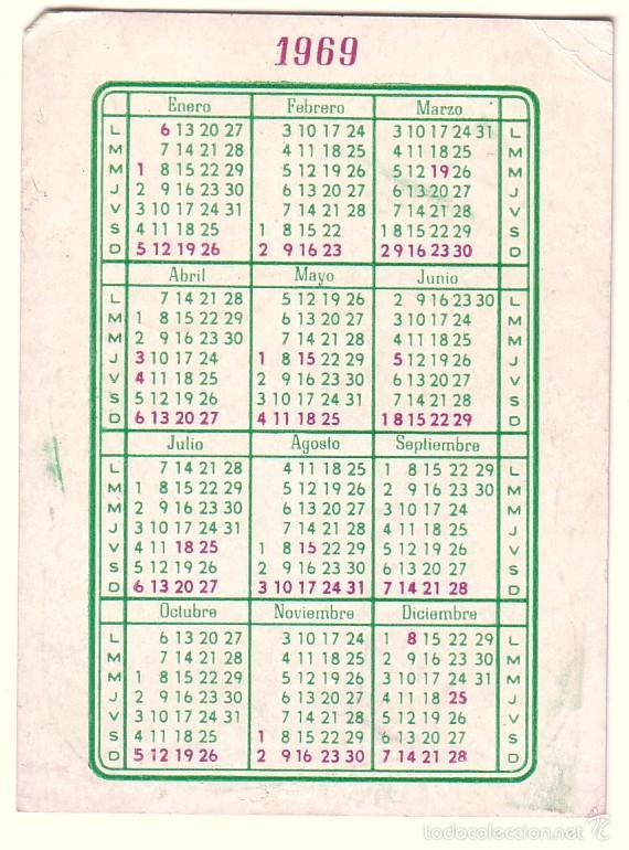 Coleccionismo Calendarios: Calendario de bolsillo Revista Platea 1969. - Foto 2 - 58137015