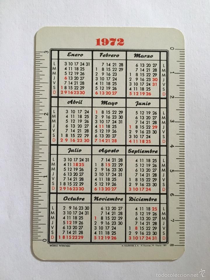 Coleccionismo Calendarios: CALENDARIO FOURNIER -1972- BANCO BILBAO - Foto 2 - 58169864