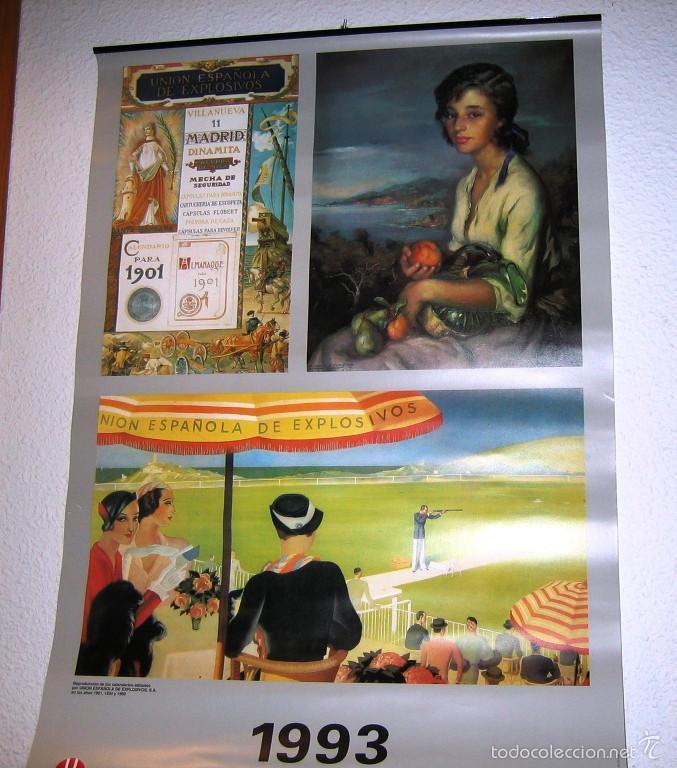 CALENDARIO PARED 1993- COLECCION UNION ESPAÑOLA DE EXPLOSIVOS- RARO- (Coleccionismo - Calendarios)