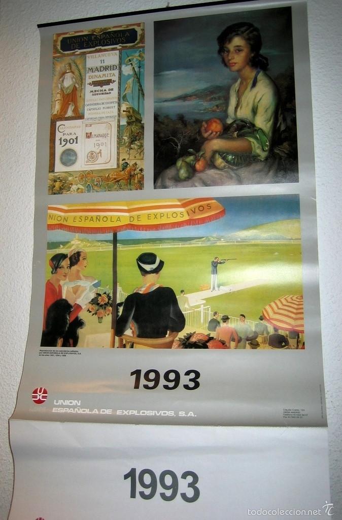 Coleccionismo Calendarios: CALENDARIO pared 1993- Coleccion UNION ESPAÑOLA DE EXPLOSIVOS- Raro- - Foto 2 - 58206120