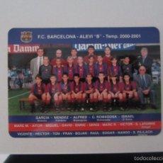 Coleccionismo Calendarios: CALENDARIO FUTBOL BARCELONA 2001. Lote 58241576