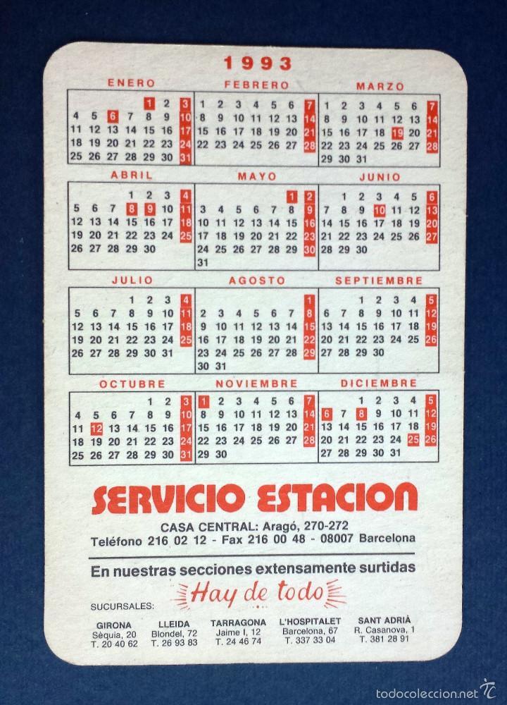 Calendario 216.Calendario 1993 Servicio Estacion Barcelona