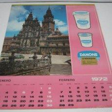 Coleccionismo Calendarios: CALENDARIO DE PARED COMPLETO PUBLICIDAD DANONE LA MENORQUINA 1972. Lote 58340251