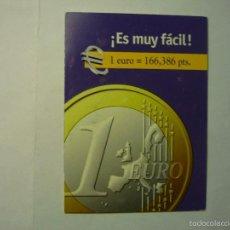 Coleccionismo Calendarios: CALENDARIO DOBLE 2000-2001 EURO. Lote 171430174