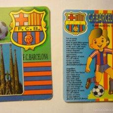 Coleccionismo Calendarios: LOTE CALENDARIOS FUTBOL BARCELONA CF 1993-1995. Lote 58430448