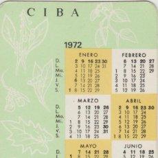 Coleccionismo Calendarios: CALENDARIOS CALENDARIO CIBALGINA AÑO 1971-72. Lote 92797172
