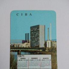 Coleccionismo Calendarios: CALENDARIO CIBALGINA. AÑO 1970.. Lote 58601844