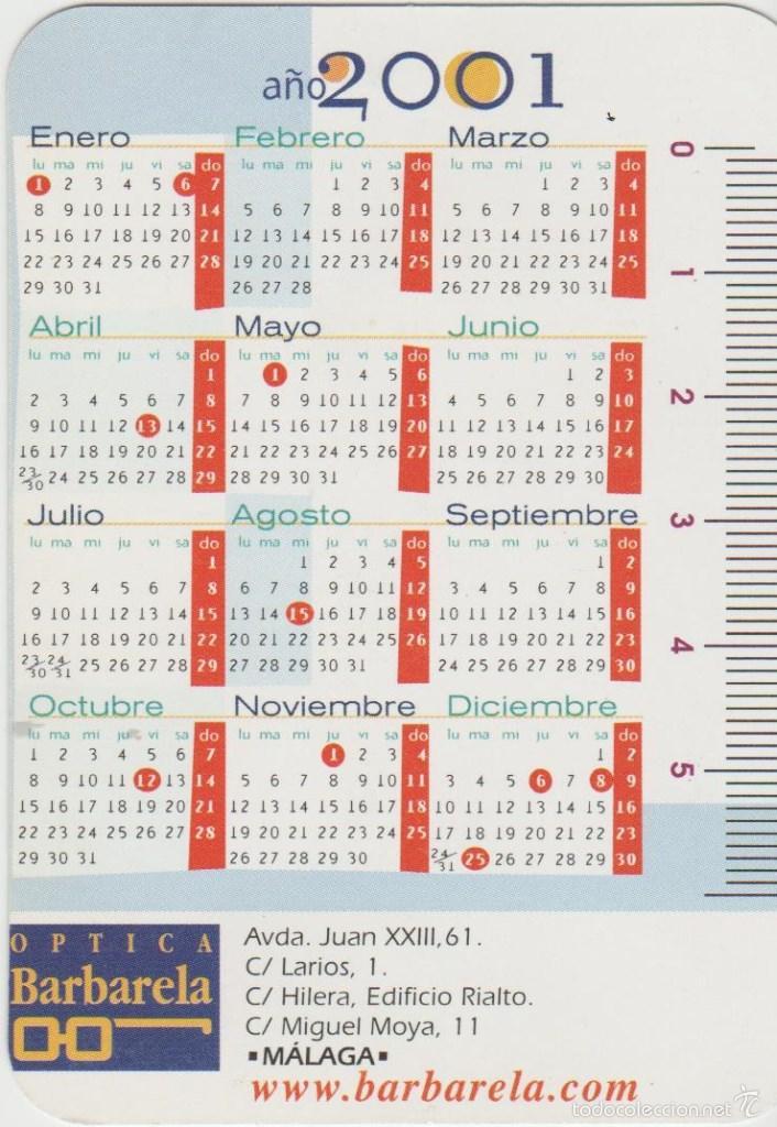 Calendario 2001.Calendarios Calendario 2001 Sold Through Direct Sale 58608313