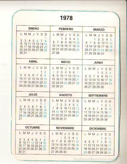 1978 Calendario.Calendario De 1978 Codigos Internacionales El De Las Fotos Ver Todos Mis Lotes De Calendarios