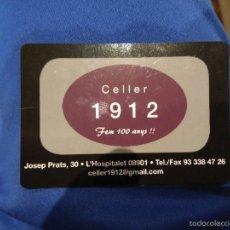Coleccionismo Calendarios: CALENDARIO BOLSILLO AÑO 2013 - CELLER 1912. Lote 59615647