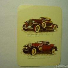Coleccionismo Calendarios: CALENDARIO EXTRANJERO COCHES 1991. Lote 59755864