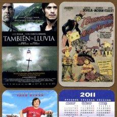 Coleccionismo Calendarios: 3 CALENDARIOS BOLSILLO CINE 2011. Lote 111916192