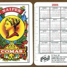 Coleccionismo Calendarios: CALENDARIOS BOLSILLO - NAIPES COMAS 2005. Lote 110116436