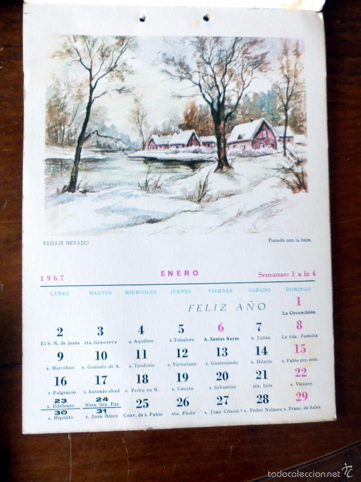 Calendario Artistico.Calendario Artistico 1967 Completo