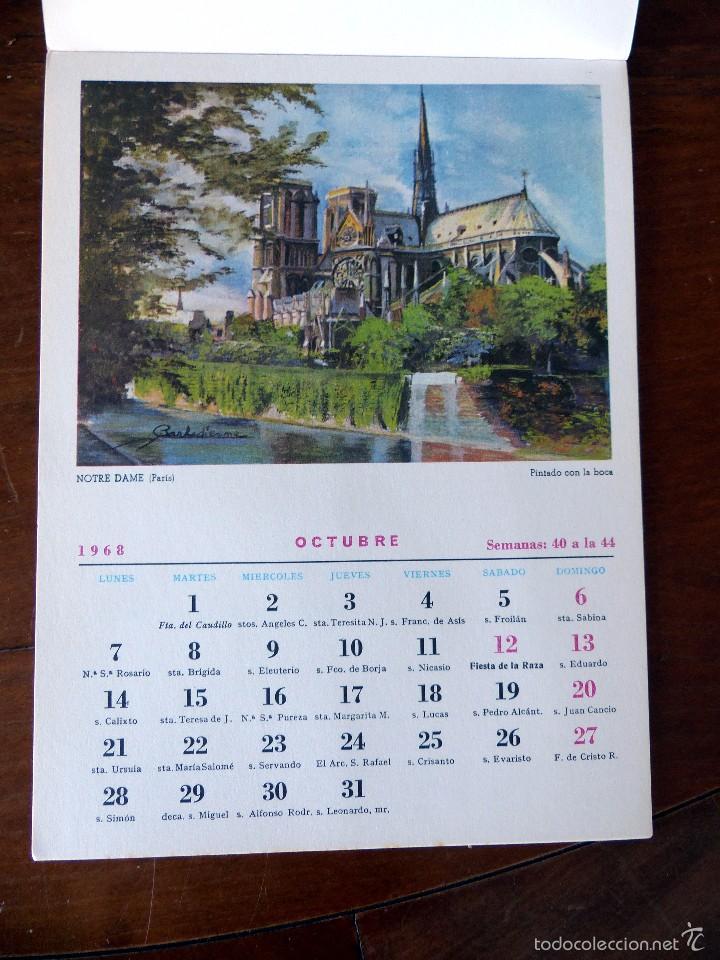 Calendario Artistico.Calendario Artistico 1968 Completo