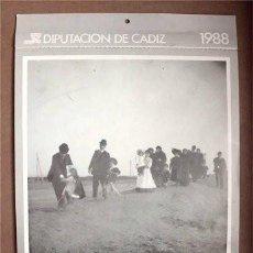 Coleccionismo Calendarios: CALENDARIO CON FOTOGRAFÍAS ANTIGUAS DE CÁDIZ REALIZADAS POR RAMÓN MUÑOZ. Lote 60188971