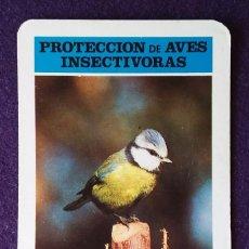 Coleccionismo Calendarios: CALENDARIO FOURNIER. PROTECCION DE AVES INSECTIVORAS, HERRERILLO COMUN .19. Lote 62106264